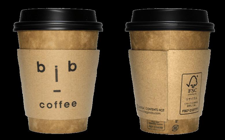 bib coffee(ビブコーヒー)のテイクアウト用コーヒーカップ