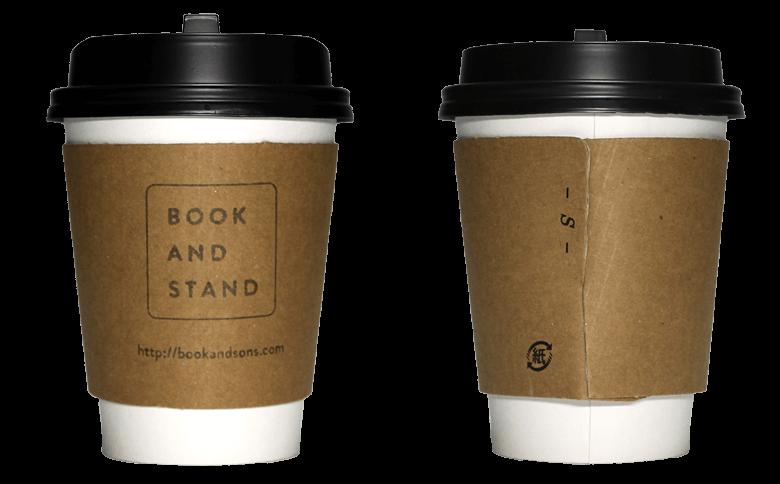 BOOK AND STAND(ブック アンド スタンド)のテイクアウト用コーヒーカップ