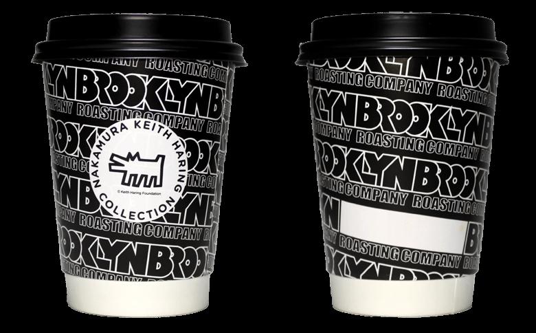 BROOKLYN ROASTING COMPANY×Keith Haring(Lサイズ BLACK)(ブルックリン ロースティング カンパニー×キース・ヘリング)のテイクアウト用コーヒーカップ
