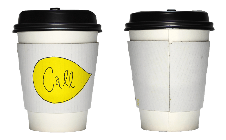call 家と庭(コール イエトニワ)のテイクアウト用コーヒーカップ