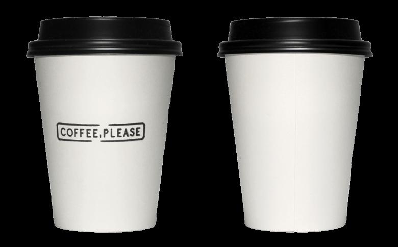 COFFEE, PLEASE(コーヒープリーズ)のテイクアウト用コーヒーカップ