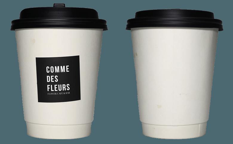 COMME DES FLEURS (コム・デ・フルール )のテイクアウト用コーヒーカップ