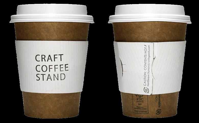 CRAFT COFFEE STAND(クラフトコーヒースタンド)のテイクアウト用コーヒーカップ