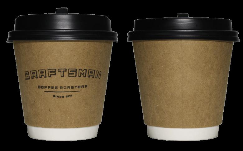 CRAFTSMAN COFFEE ROASTERS(クラフツマン コーヒー ロースターズ)のテイクアウト用コーヒーカップ