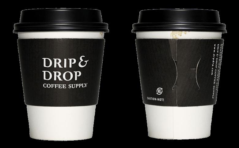 DRIP&DROP COFFEE SUPPLY(ドリップ アンド ドロップ コーヒー サプライ)のテイクアウト用コーヒーカップ