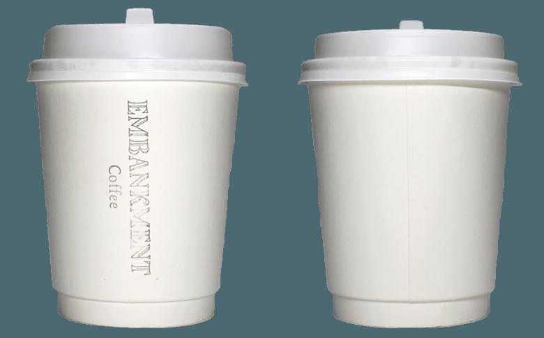 EMBANKMENT Coffee(エンバンクメントコーヒー)のテイクアウト用コーヒーカップ