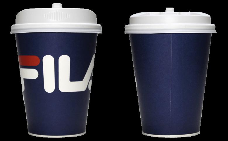 FILA CAFE(フィラ カフェ)のテイクアウト用コーヒーカップ