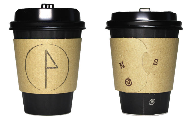 FRANCY JEFFERS CAFE(フランシー・ジェファーズ カフェ)のテイクアウト用コーヒーカップ