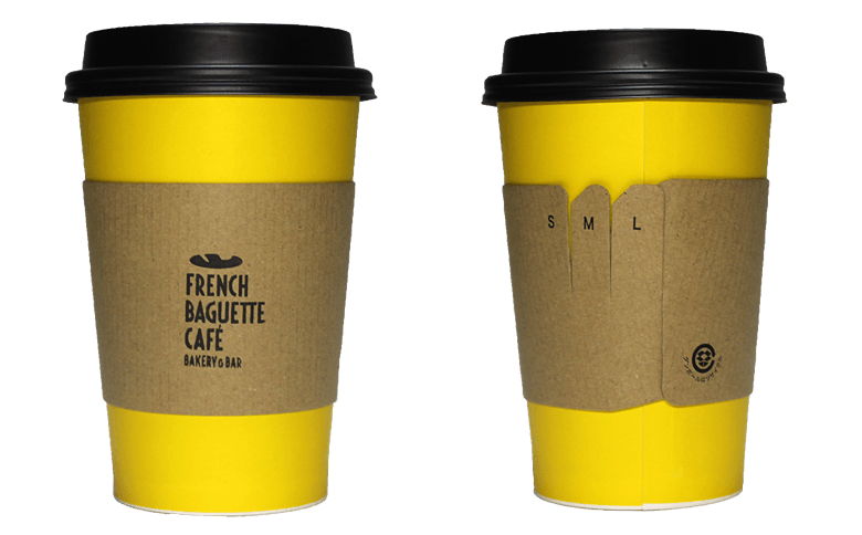 BAKERY & BAR FRENCH BAGUETTE CAFE(ベーカリー&バル フレンチ バゲット カフェ)のテイクアウト用コーヒーカップ