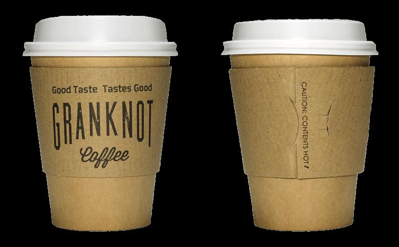 GRANKNOT coffee(グランノットコーヒー)のテイクアウト用コーヒーカップ