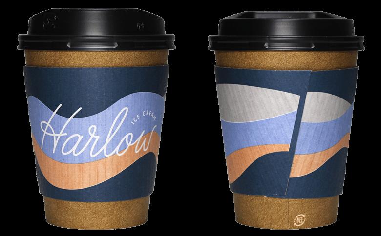 Harlow ICE CREAM(ハーロウ アイスクリーム)のテイクアウト用コーヒーカップ
