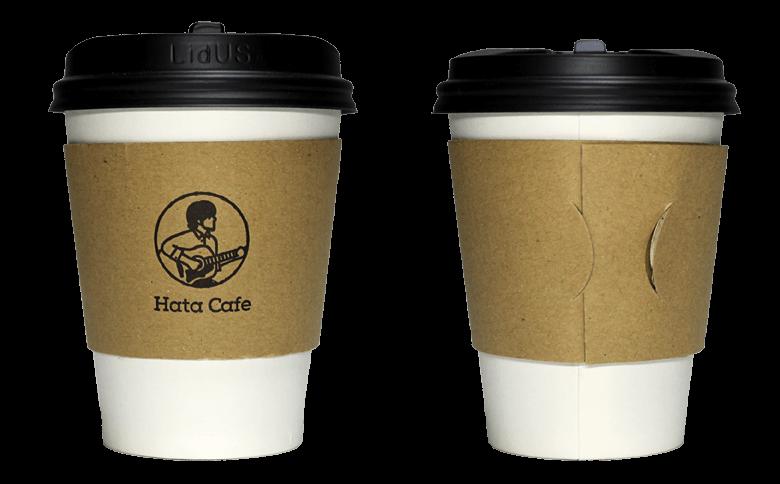 Hata Cafe(ハタカフェ)のテイクアウト用コーヒーカップ
