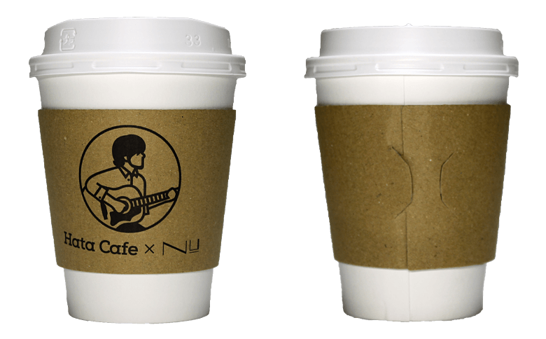 Hata Cafe×Nu茶屋町(ハタカフェ×Nu茶屋町)のテイクアウト用コーヒーカップ