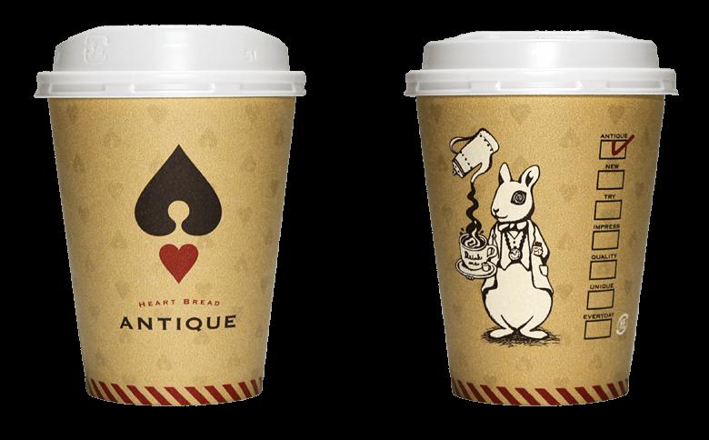 HEART BREAD ANTIQUE(ハートブレッド アンティーク)のテイクアウト用コーヒーカップ