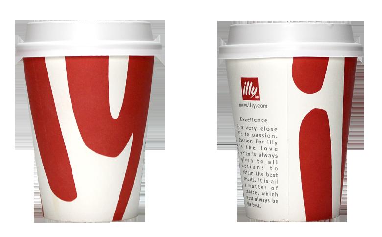 illy CAFE Lab. (イリー カフェラボ)のテイクアウト用コーヒーカップ
