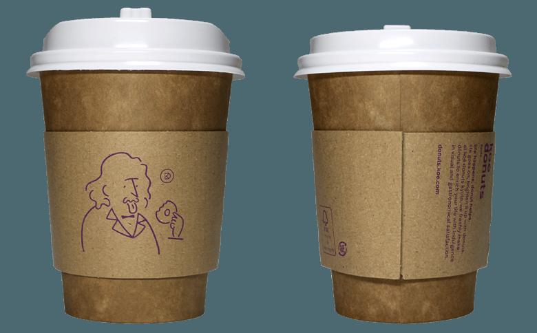 koe donuts(コエ ドーナツ)のテイクアウト用コーヒーカップ
