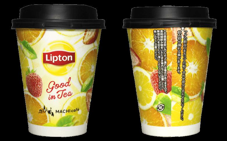 LAWSON MACHI café Lipton グッドインティー(ローソン マチカフェ リプトン グッドインティー)のテイクアウト用コーヒーカップ