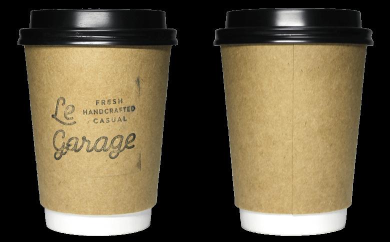 LE GARAGE(ル・ガラージュ)のテイクアウト用コーヒーカップ