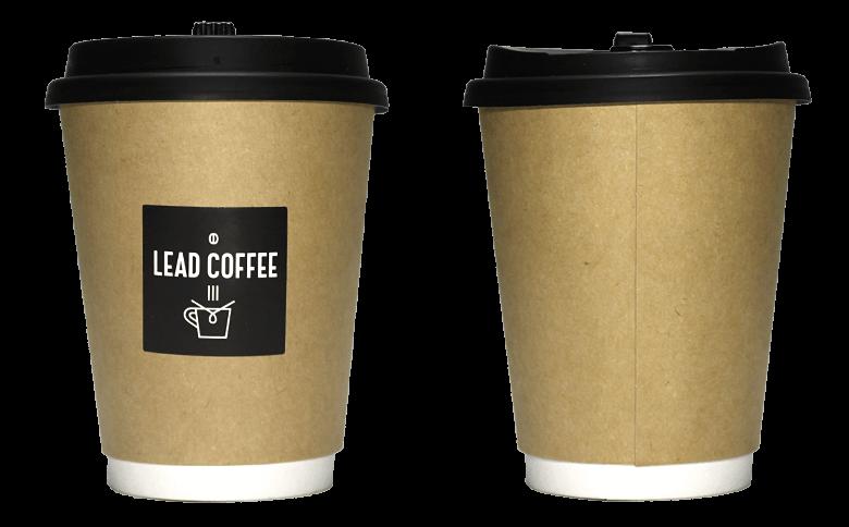 LEAD COFFEE ver.02(リードコーヒー)のテイクアウト用コーヒーカップ
