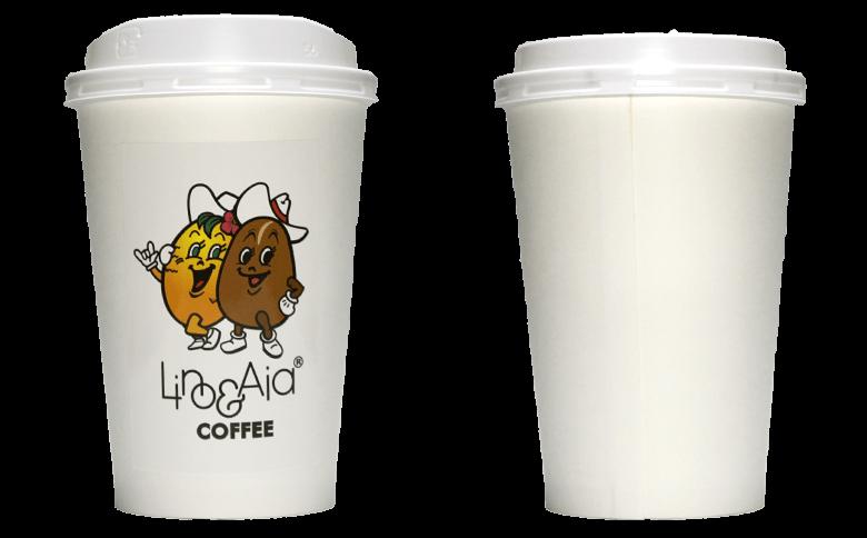 Lino&Aia coffee(リノアンドアイアコーヒー)のテイクアウト用コーヒーカップ