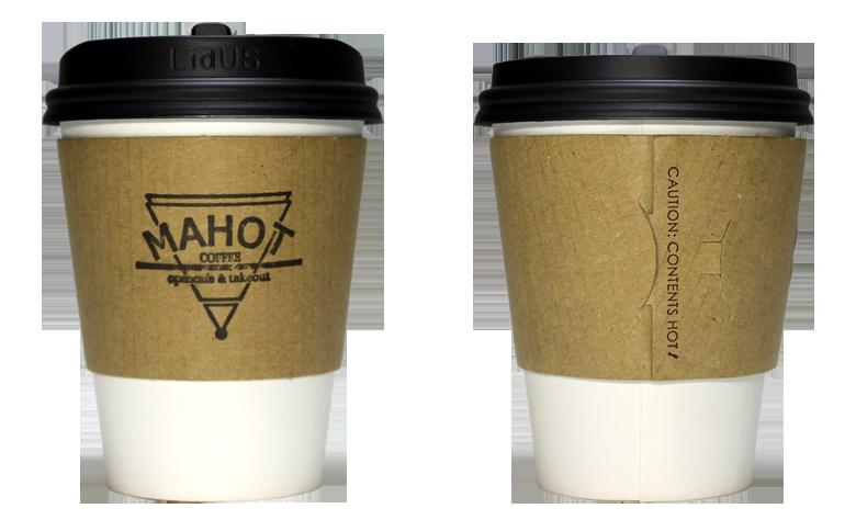 MAHOT COFFEE(マホット コーヒー)のテイクアウト用コーヒーカップ