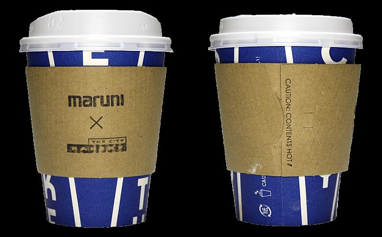 MARUNI COLLECTION @ THE CITY BAKERYのテイクアウト用コーヒーカップ