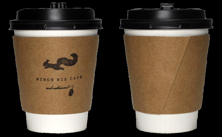 MINOH RIS CAFE(箕面 リスカフェ)のテイクアウト用コーヒーカップ