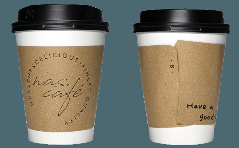 nas.cafe(ナスカフェ)のテイクアウト用コーヒーカップ