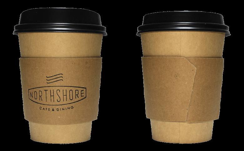 NORTHSHORE CAFE & DINING(ノースショア)のテイクアウト用コーヒーカップ