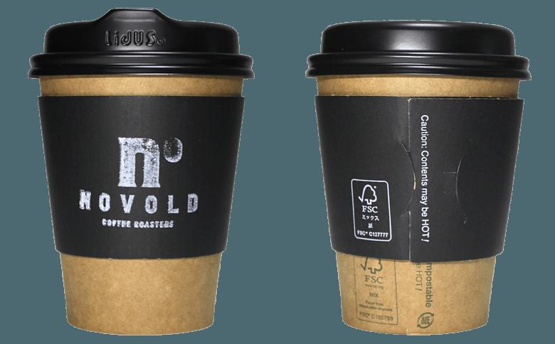 NOVOLD COFFEE ROASTERS(ノボルド コーヒー ロースターズ)のテイクアウト用コーヒーカップ