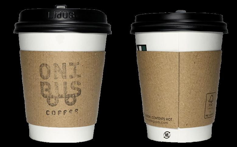 ONIBUS COFFEE(オニバスコーヒー)のテイクアウト用コーヒーカップ