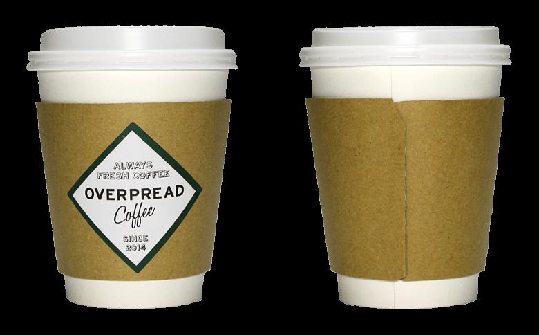 OVERPREAD coffee(オーバープレード コーヒー)のテイクアウト用コーヒーカップ