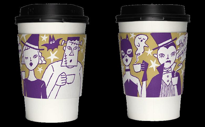 PRONTO 2017年ハロウィン限定(プロント)のテイクアウト用コーヒーカップ