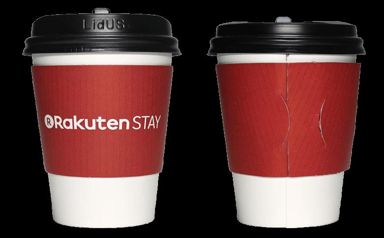 Rakuten STAY HOSTEL Art cafe & barのテイクアウト用コーヒーカップ