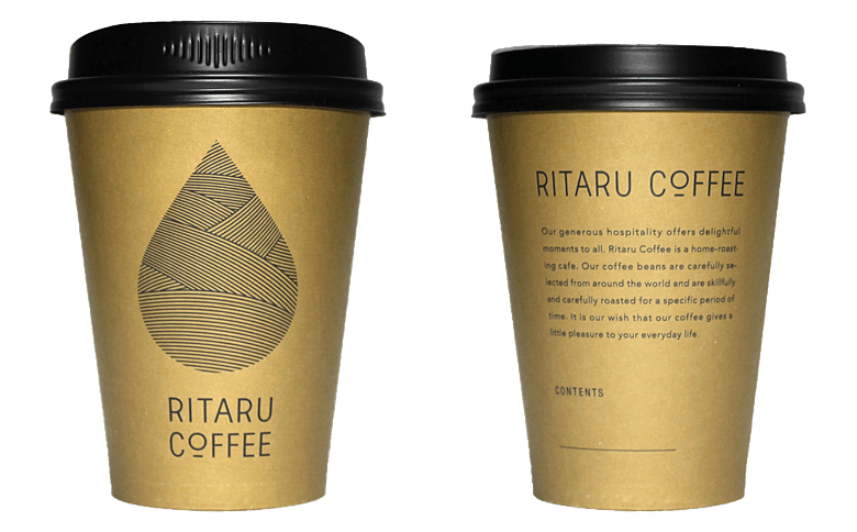 RITARU COFFEE(リタルコーヒー)のテイクアウト用コーヒーカップ