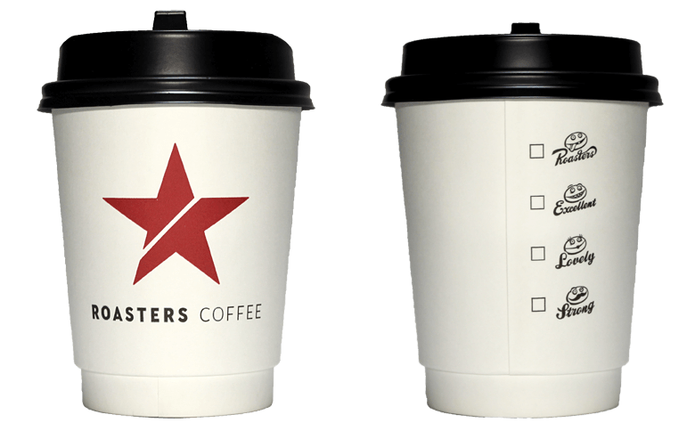 ROASTERS COFFEE(ロースターズコーヒー)のテイクアウト用コーヒーカップ
