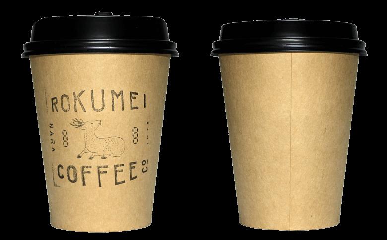 ROKUMEI COFFEE CO.(ロクメイコーヒー)のテイクアウト用コーヒーカップ