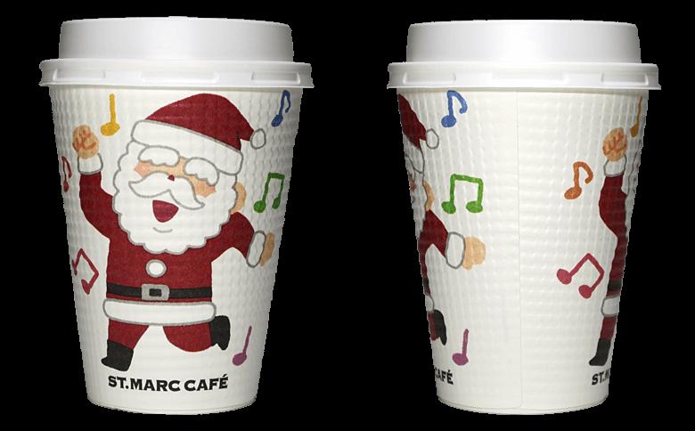 サンマルクカフェ 2018年クリスマス限定(ダンス)のテイクアウト用コーヒーカップ