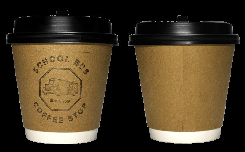 SCHOOL BUS COFFEE STOP(スクールバスコーヒーストップ)のテイクアウト用コーヒーカップ