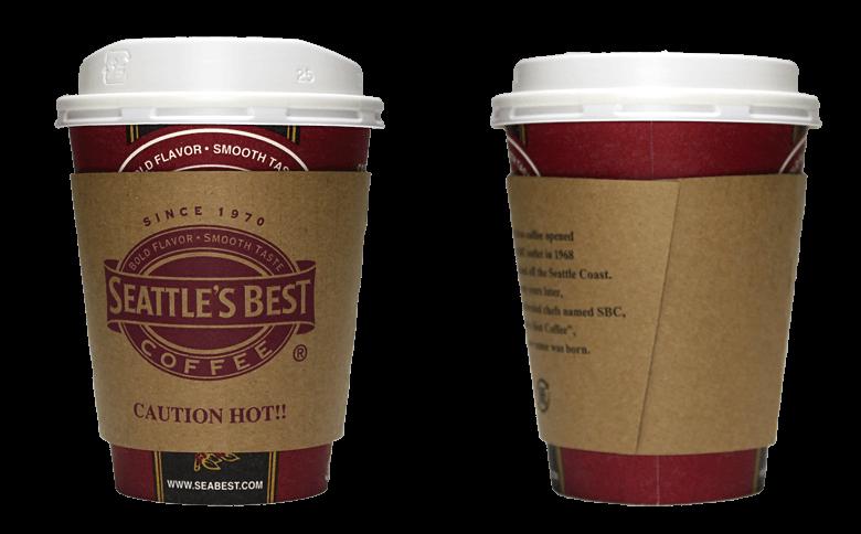 Seattle's Best Coffee(シアトルズベストコーヒー)のテイクアウト用コーヒーカップ