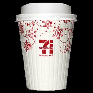 セブンイレブン セブンカフェ 2018年冬限定(白×赤)