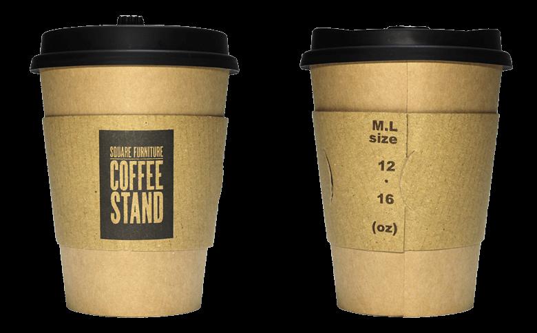 Square Furniture Coffee Stand(スクエアファニチャーコーヒースタンド)のテイクアウト用コーヒーカップ