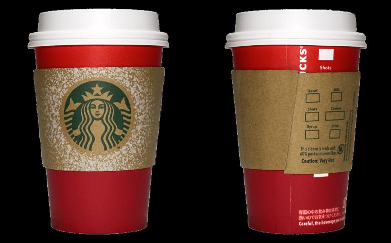 Starbucks Coffee(スターバックスコーヒー)2015年ホリデーシーズン限定レッドカップのテイクアウト用コーヒーカップ