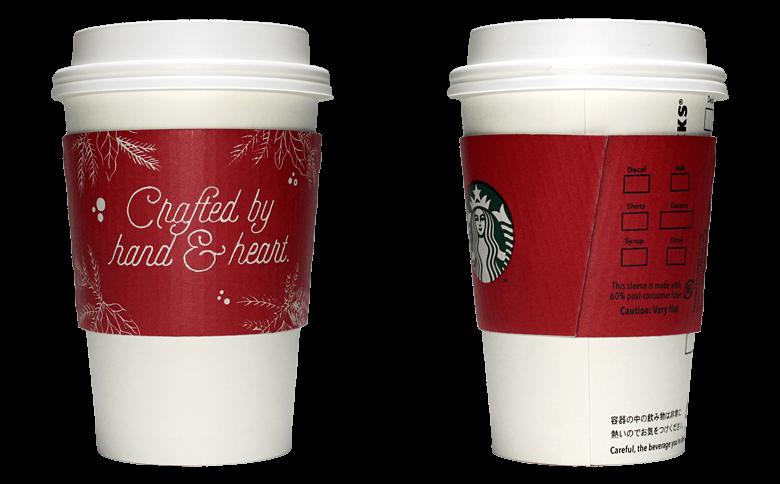 Starbucks Coffee 2016年ホリデーシーズン限定のテイクアウト用コーヒーカップ