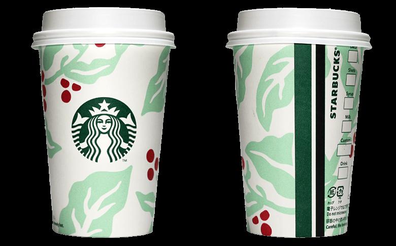 Starbucks Coffee 2018年ホリデーシーズン限定 クリスマスコーヒーチェリーのテイクアウト用コーヒーカップ