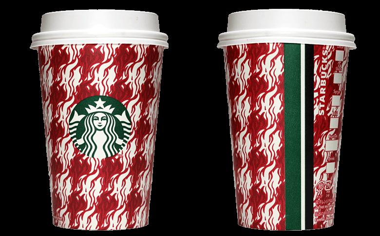 Starbucks Coffee 2018年ホリデーシーズン限定 エスプレッソハウンズトゥースのテイクアウト用コーヒーカップ