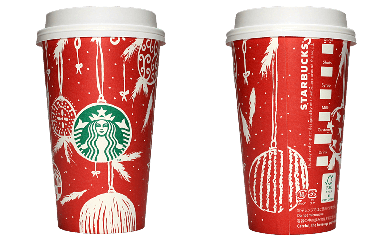Starbucks Coffee 2016年ホリデーシーズン限定レッドカップ Ornaments「オーナメント」(United Arab Emirates)のテイクアウト用コーヒーカップ