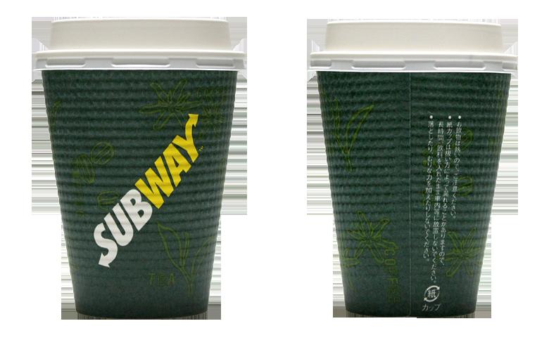SUBWAY(サブウェイ)のテイクアウト用コーヒーカップ