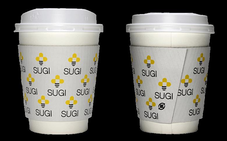 杉養蜂園(スギヨウホウエン)のテイクアウト用コーヒーカップ