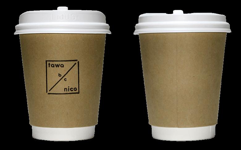 Tawanico(タワニコ)のテイクアウト用コーヒーカップ